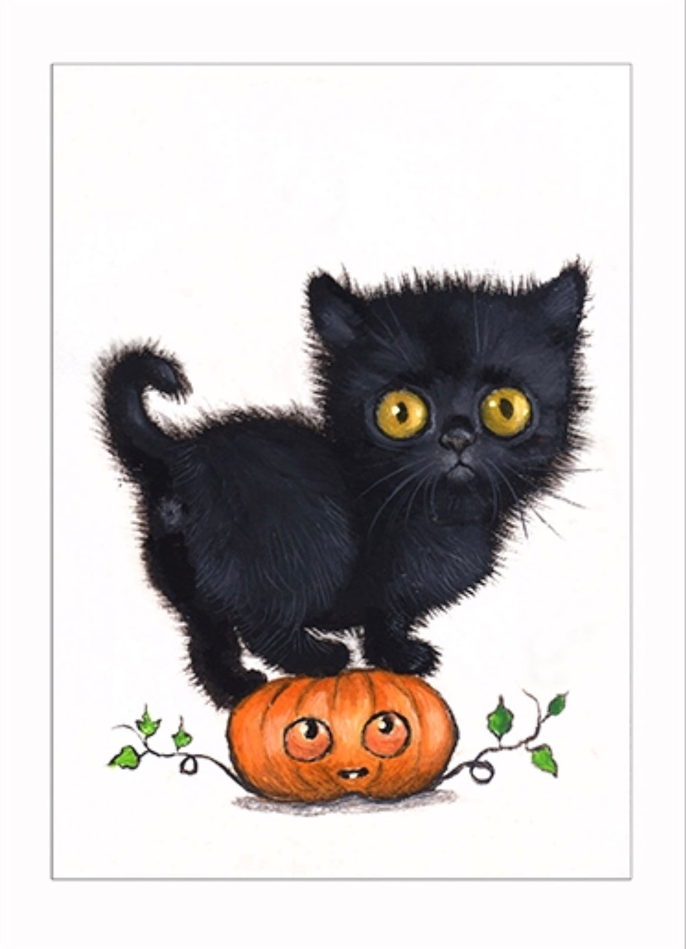 "Image of ""Pumpkin"" archival ACEO print"