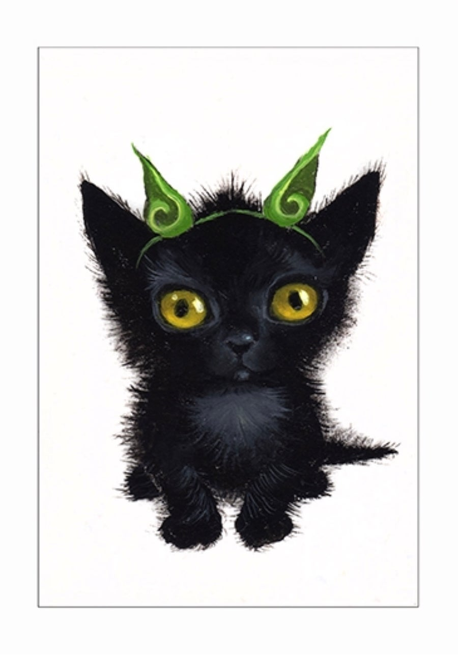 """Image of """"Goblin"""" archival ACEO print"""