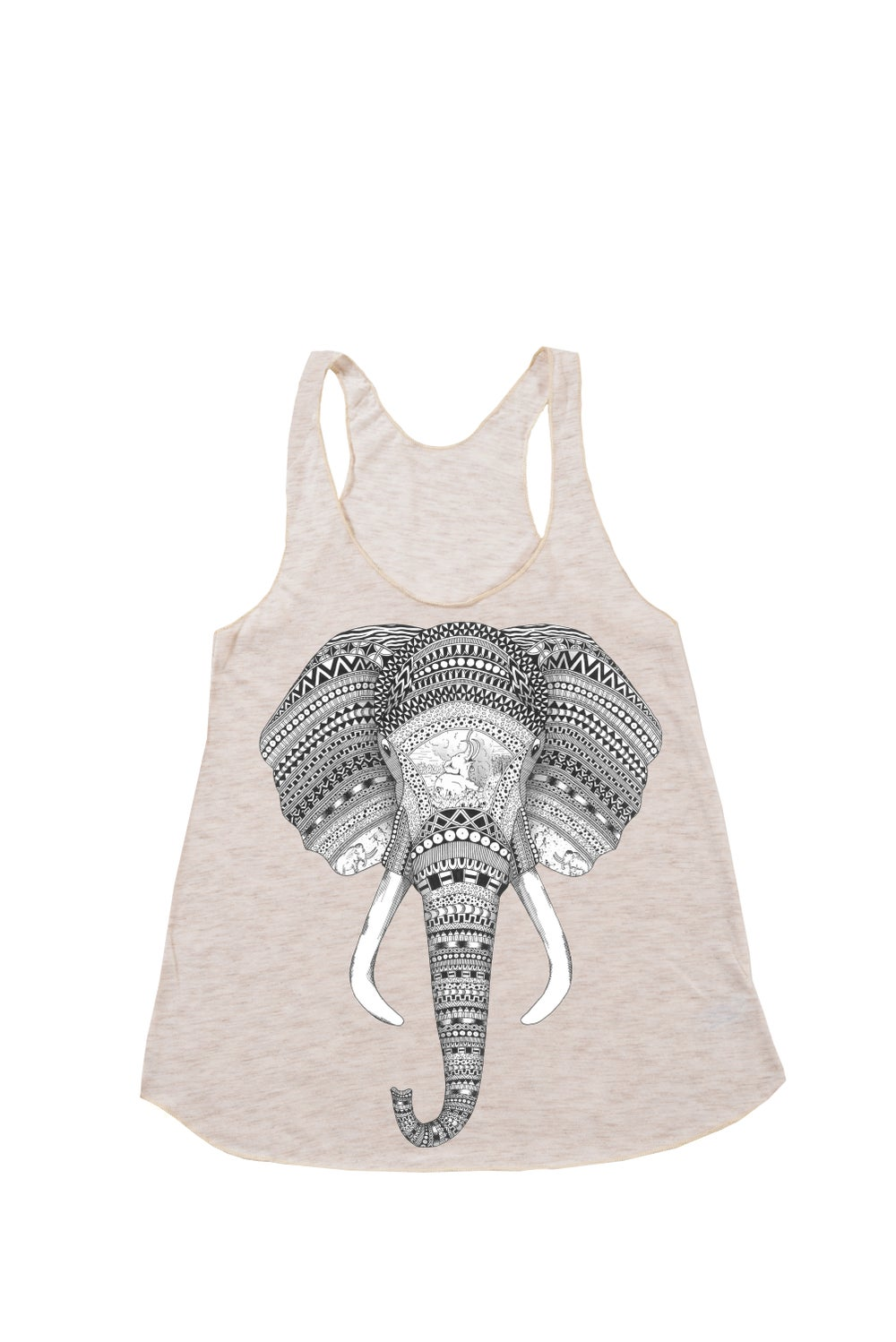 "Image of ""An Elephant Never Forgets"" Racerback Tank"