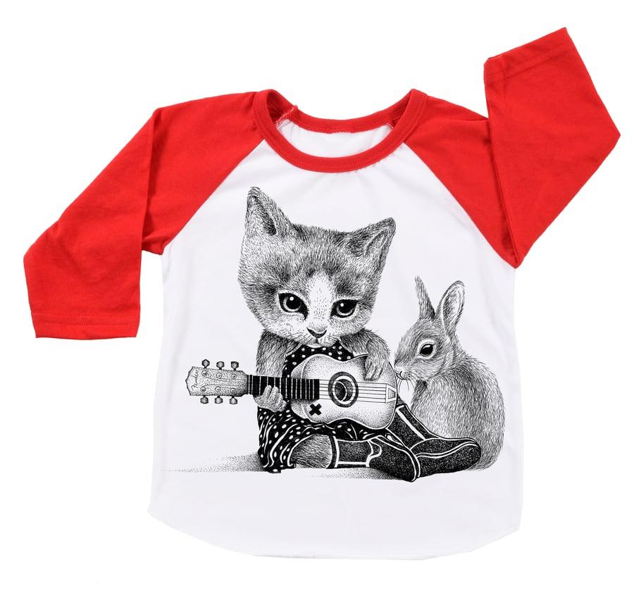Image of Johnny Cat Babies/Kids BBall Tee