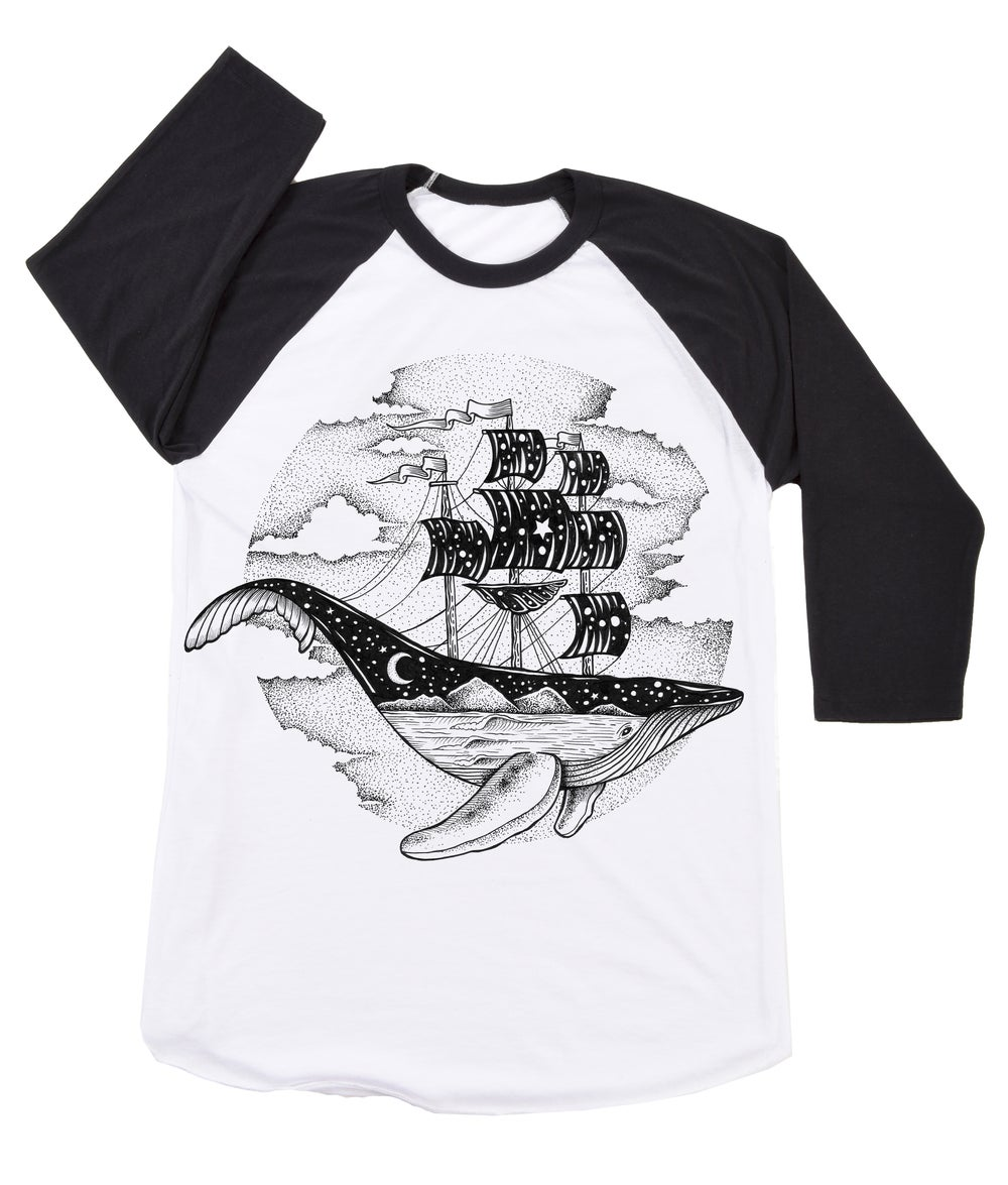 Image of Whale Ship Baseball Tee