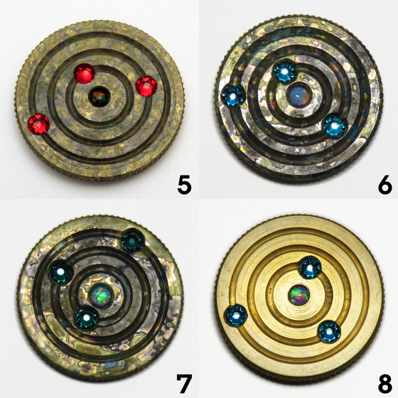 Image of Brass Orbit Pins #5, #6, #7, #8