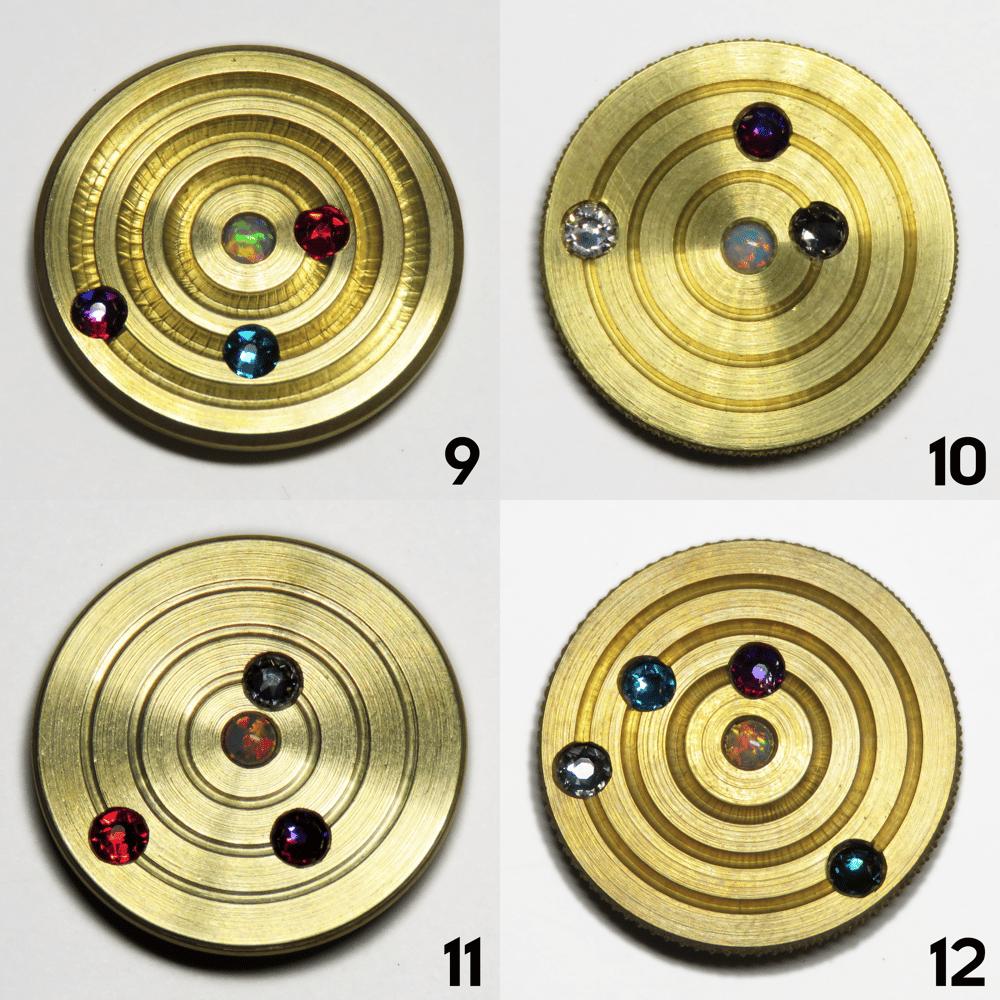 Image of Brass Orbit Pins #9, #10, #11, #12