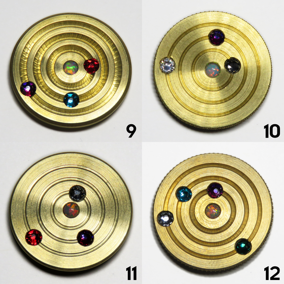 Image of Brass Orbit Pins #9, #10, #11, #12