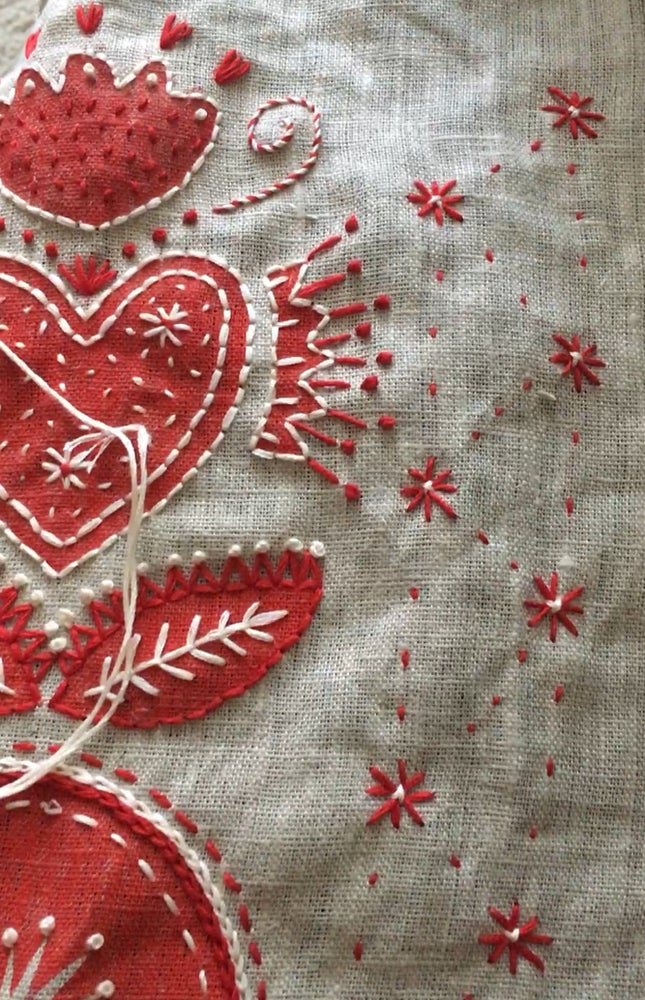 Image of Christmas Embroidery with Kasia Saturday Nov24th 9.30-12.30pm