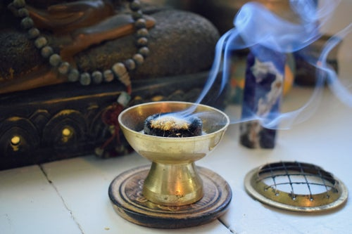 Image of Palo Santo + Blue Sage | an energy clearing powdered incense