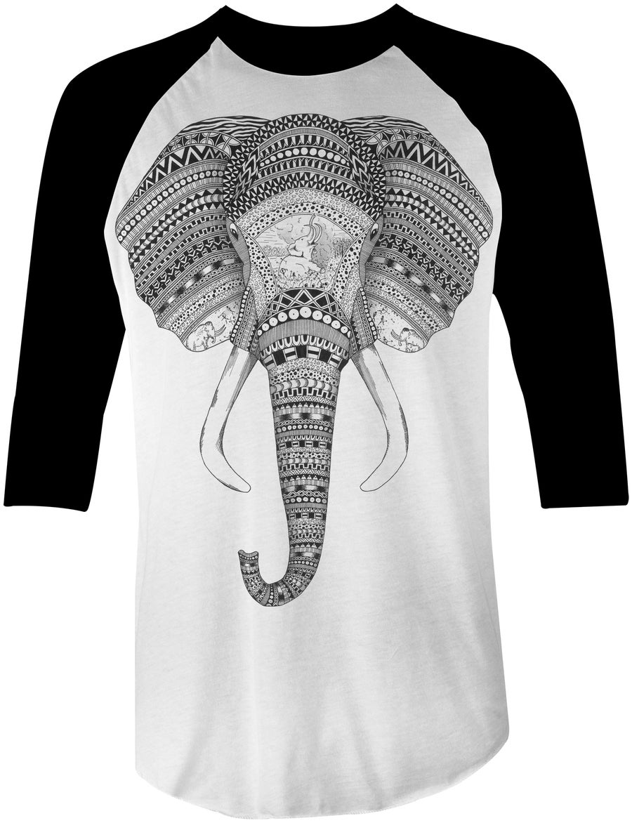 "Image of ""An Elephant Never Forgets"" Baseball Tee"