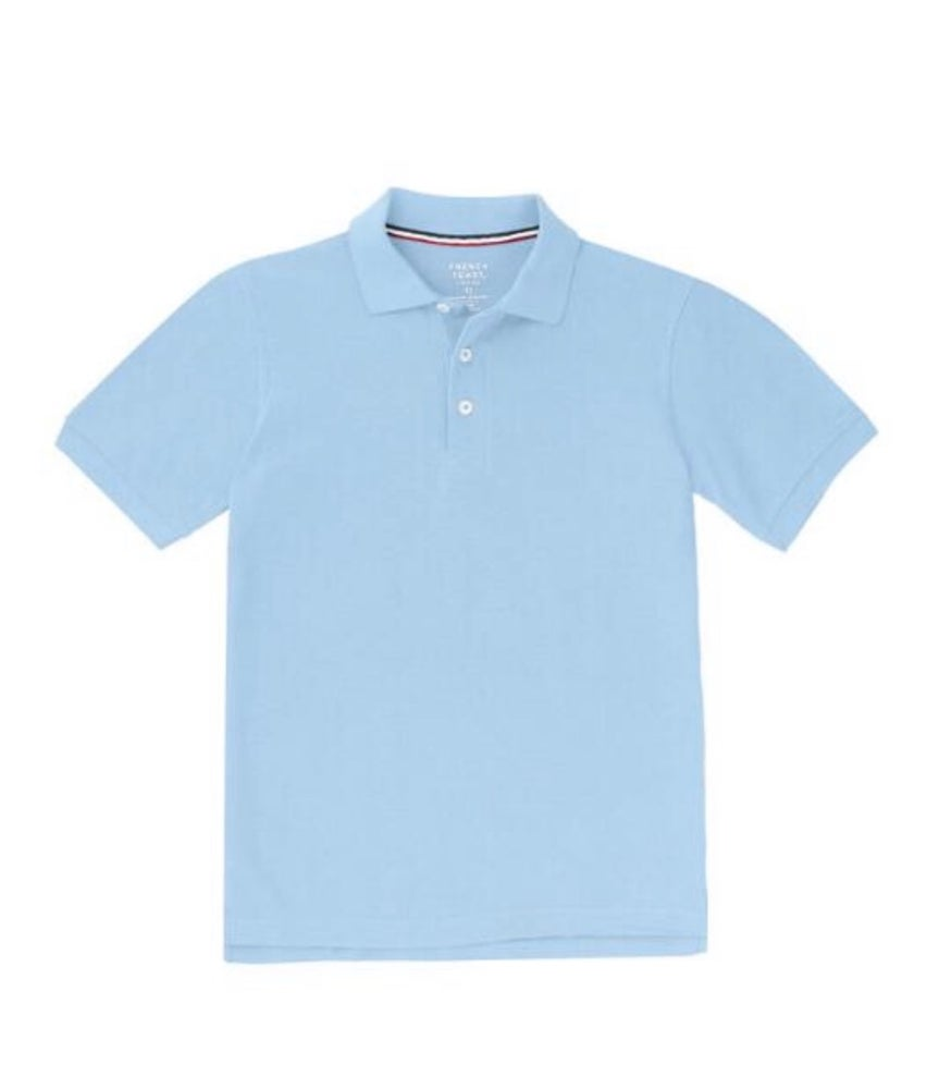 Image of Boys French Toast Short Sleeve Pique Polo - Light Blue