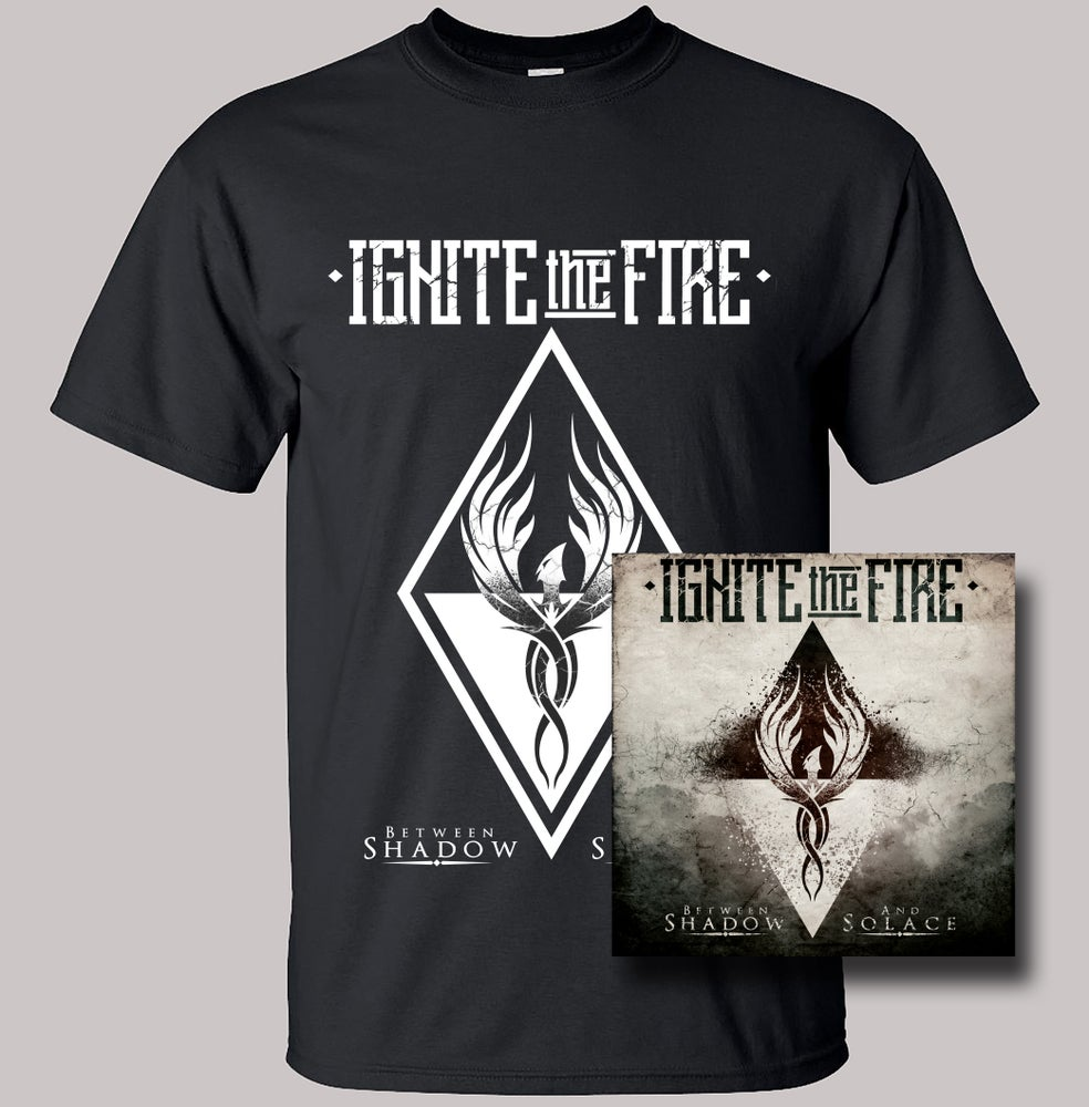 Image of Between Shadow And Solace CD + T-Shirt Combo