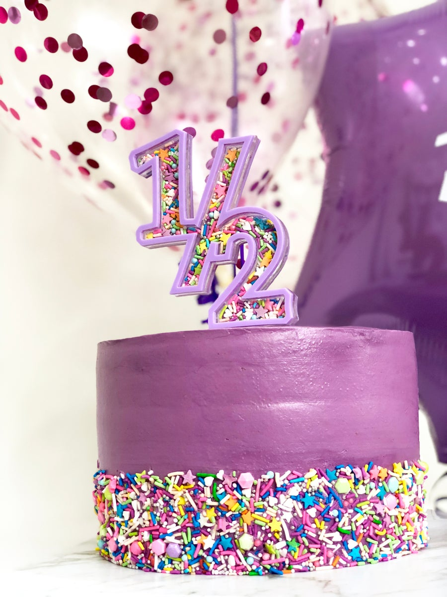 Image of Custom Fillable Acrylic Cake Topper - Single Digit