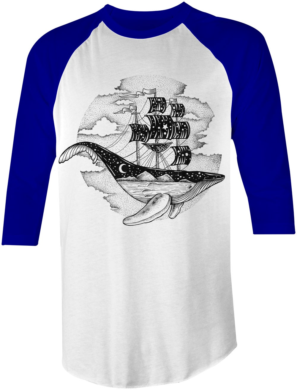 Image of Whale Ship Blue Sleeves