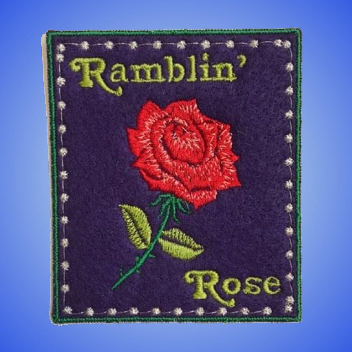 Ramblin' Rose Handmade Patch! 3x4 - Purple / Green