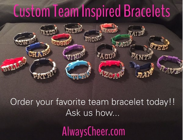 Image of Silicon Bracelet with Rhinestone Letters