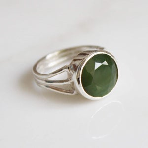 Image of Dragon Claw x Green Jade ring