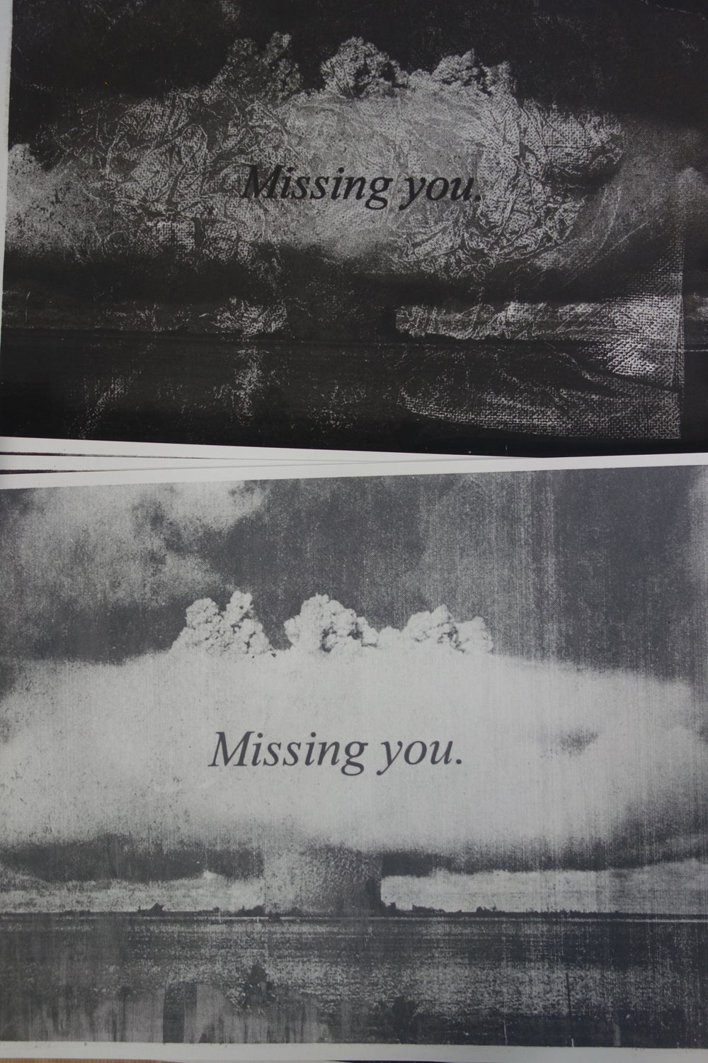 Missing you / screen print