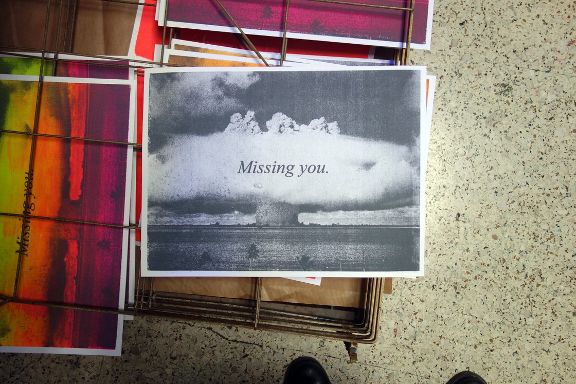 Image of Missing you / screen print