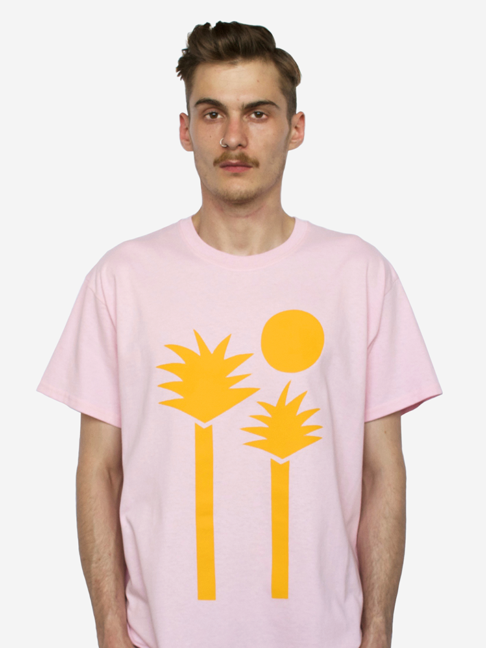 Image of 'Palms' Tee - Pink