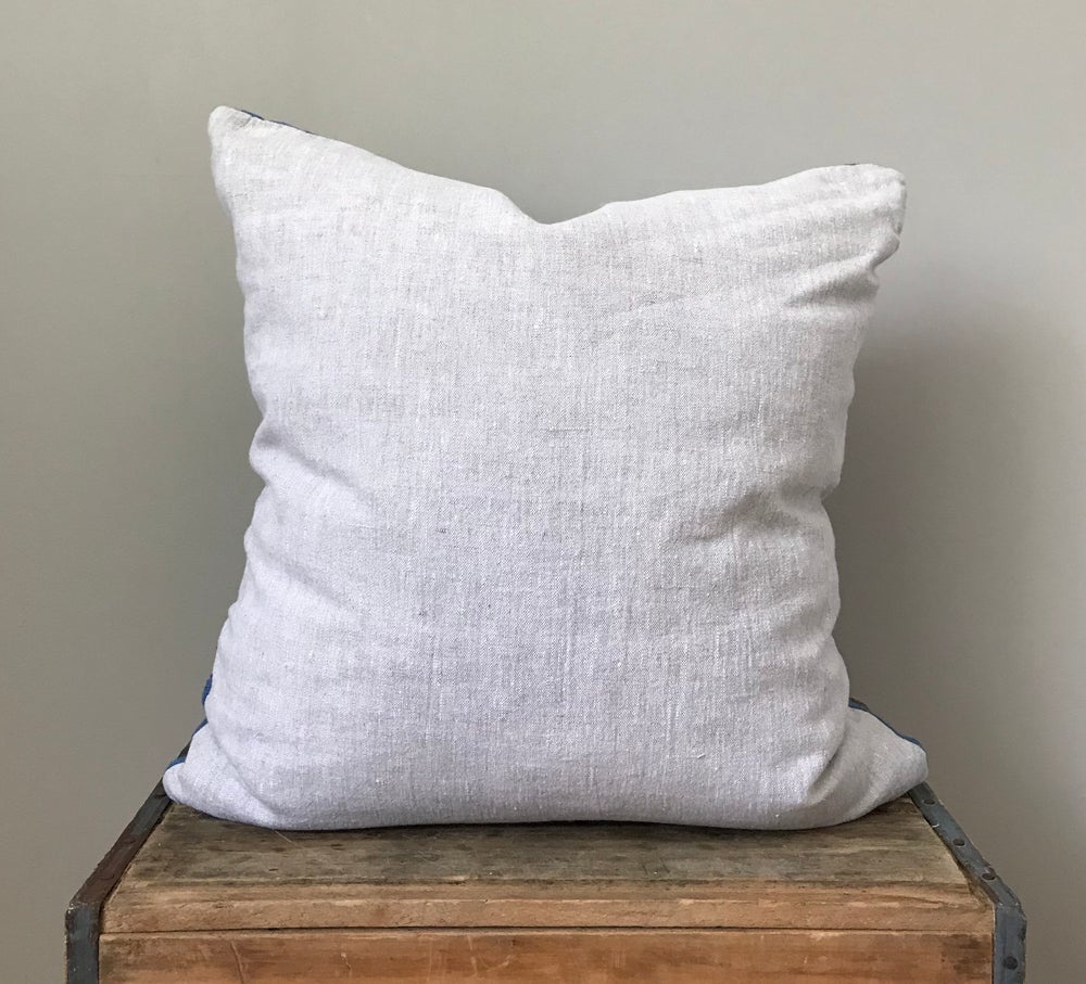 "Image of Light Blue Mudcloth Pillow 20""x20"""