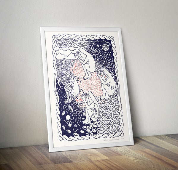 Image of Circle of Life – LIMITED EDITION RISOGRAPH PRINT