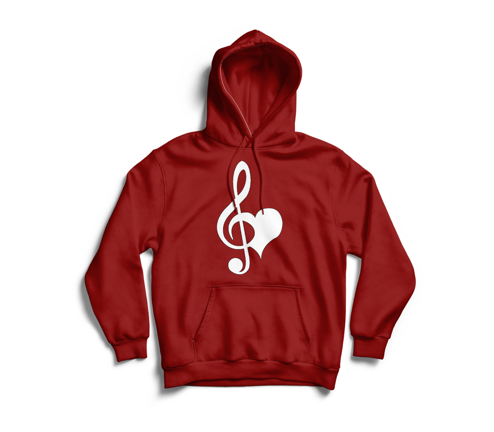 Image of Love & Music Red Hoodie