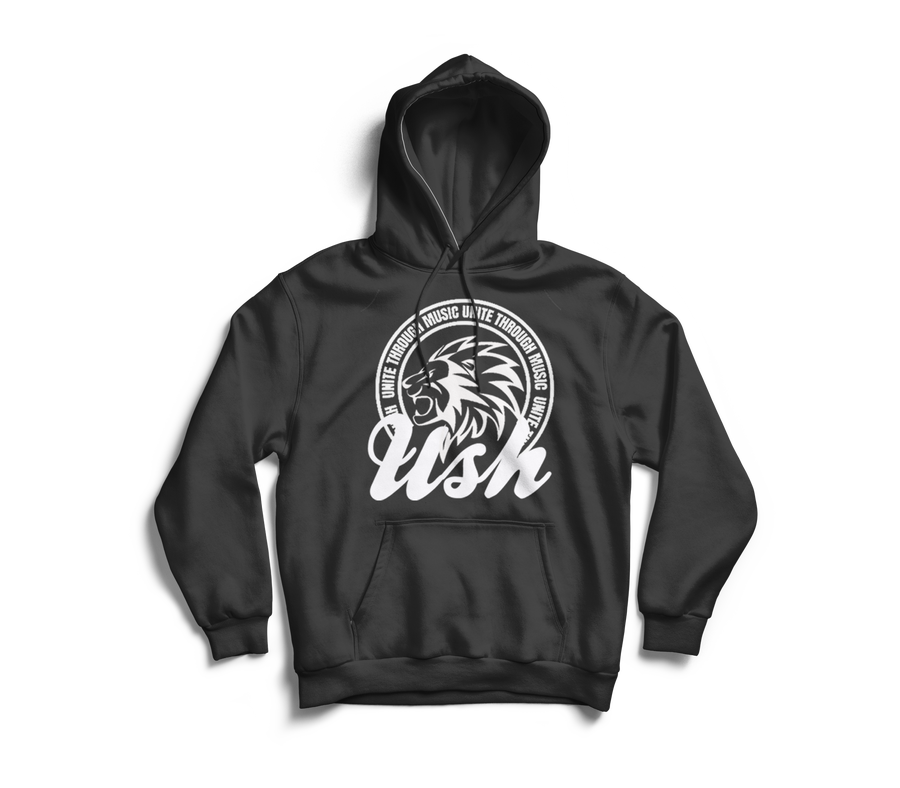 "Image of ""USH Lion"" Charcoal Grey Pullover Hoodie"