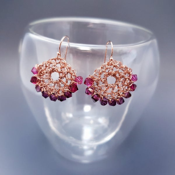 Image of PINK FADE HALF-MOON EARRINGS