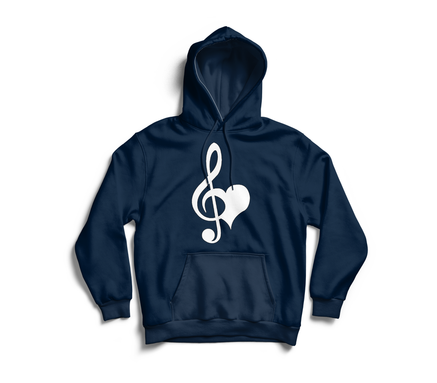 Image of Love & Music Navy Hoodie