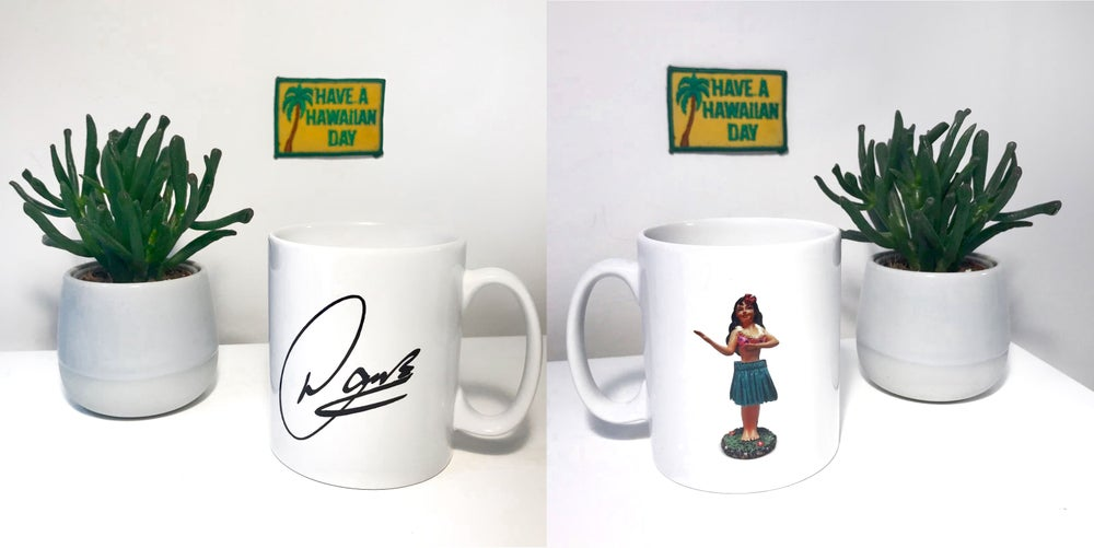 Image of 'AFT' Hula girl signature mug