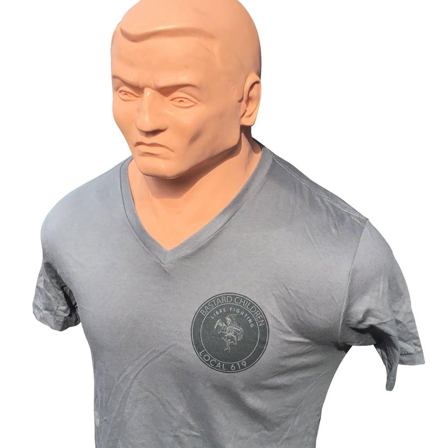 Image of Gray Bastard Children V Neck T Shirt