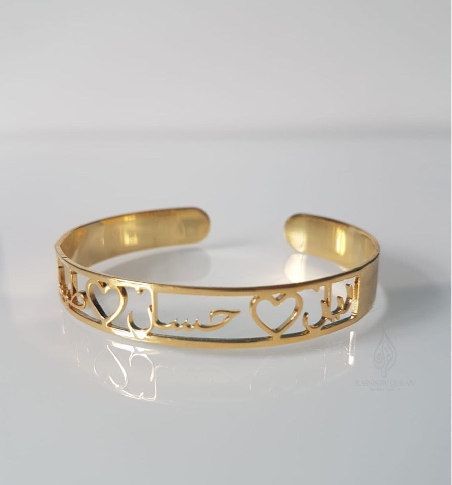 Image of Personalised Open Bangle 02