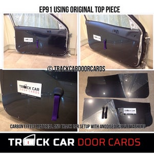 Image of Toyota EP91 Starlet - Using top piece - Track Car Door Cards