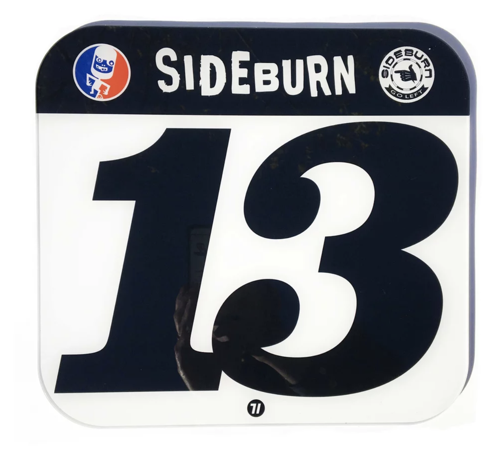 Image of Sideburn Perspex Race Number Plate #13