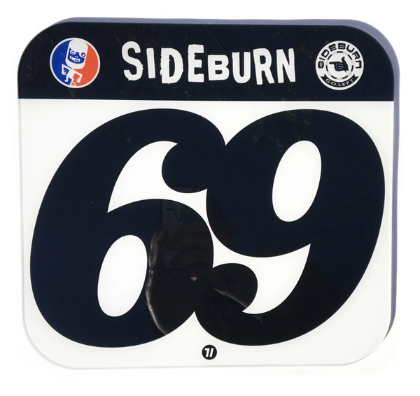 Image of Sideburn Perspex Race Number Plate #69