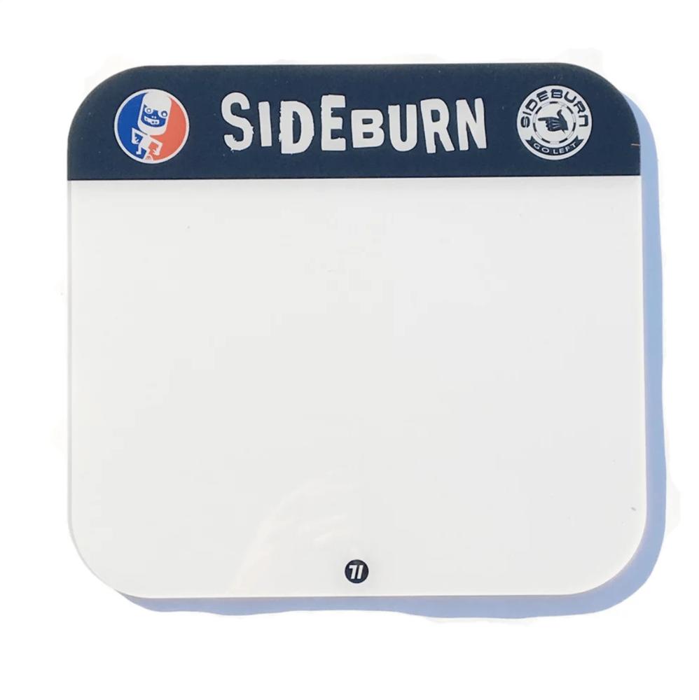 Image of Sideburn Perspex Race Number Plate - Blank