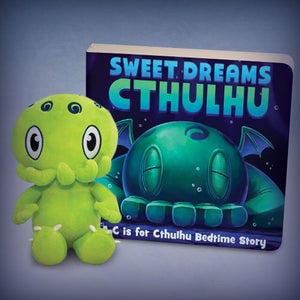 "Image of C is for Cthulhu: SIGNED Mini Green Cthulhu plush and ""Sweet Dreams Cthulhu"" book set!"