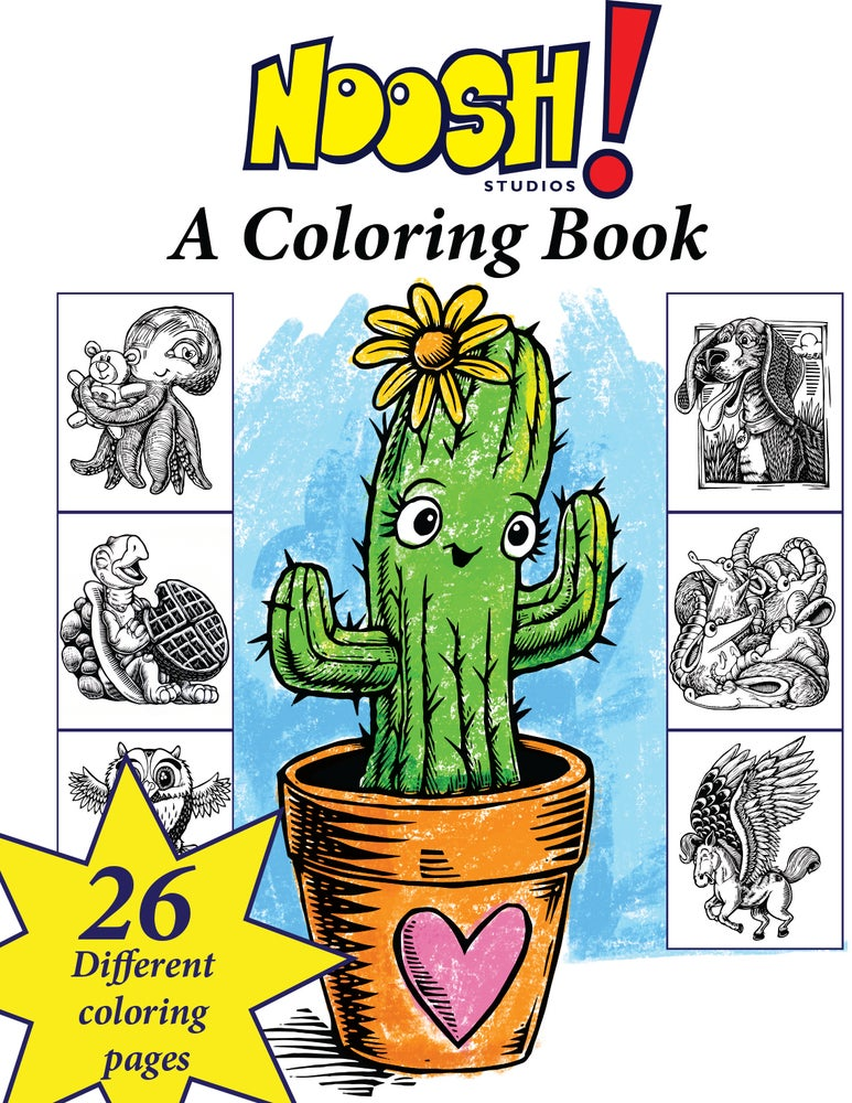 Image of Noosh! A coloring book.