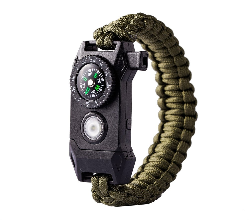 Image of Flashlight Multi Tool Survival Bracelet SOS
