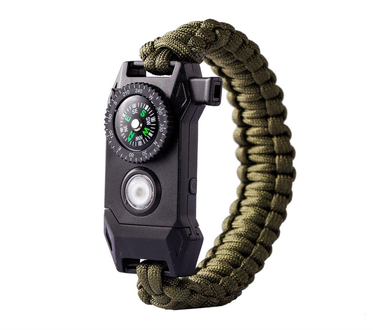 Image of Flashlight Multi Tool Survival Bracelet SOS