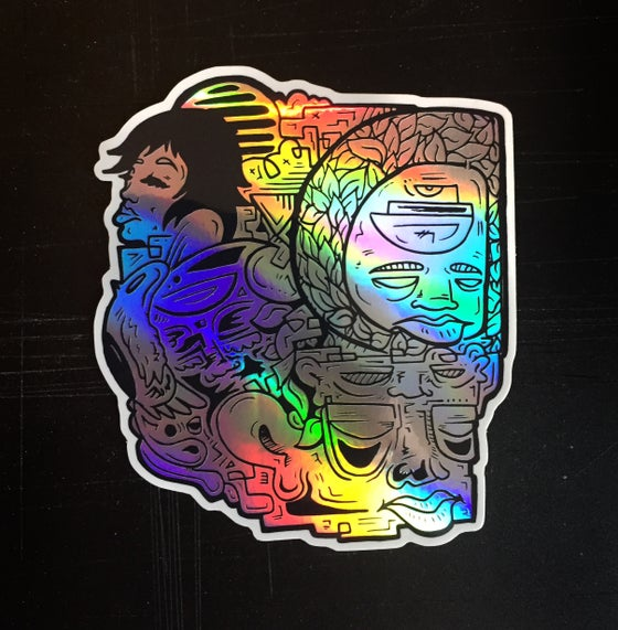Image of Holographic Blockhead Sticker