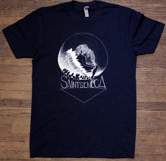 Image of Moon Leaf Shirt (dark blue)