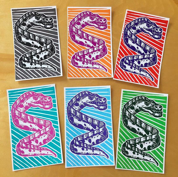 Image of Electric Eel Stickers