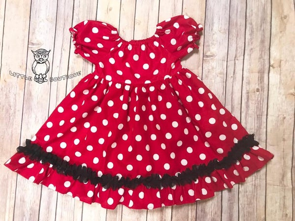 Image of 4T Miss Mouse OOAK Peasant Dress