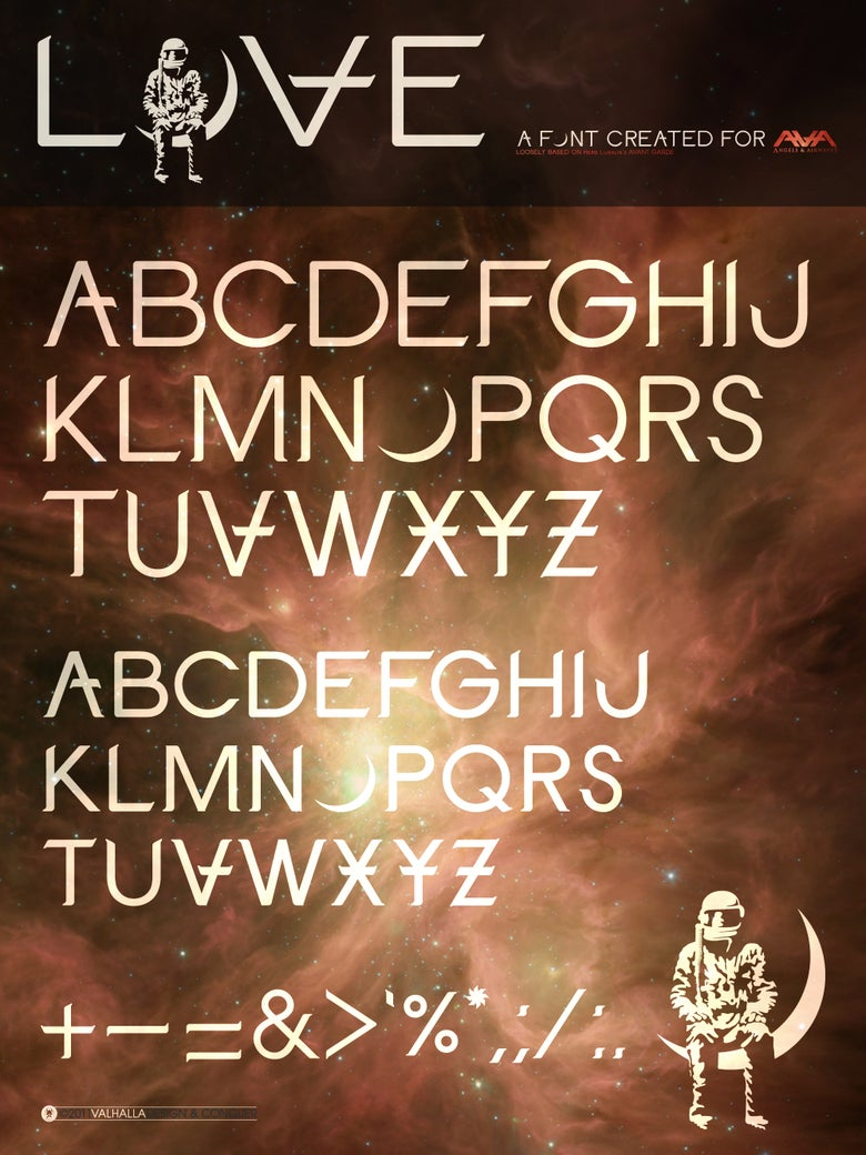 Image of LOVE Font