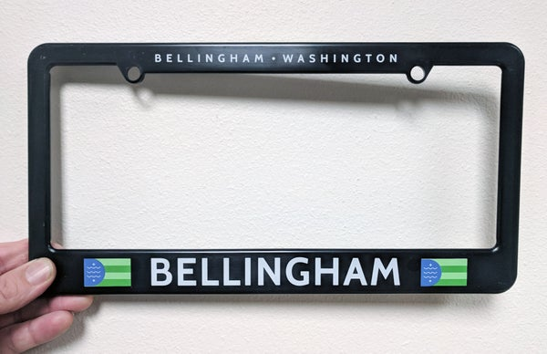 Image of Bellingham Flag License Plate Frame