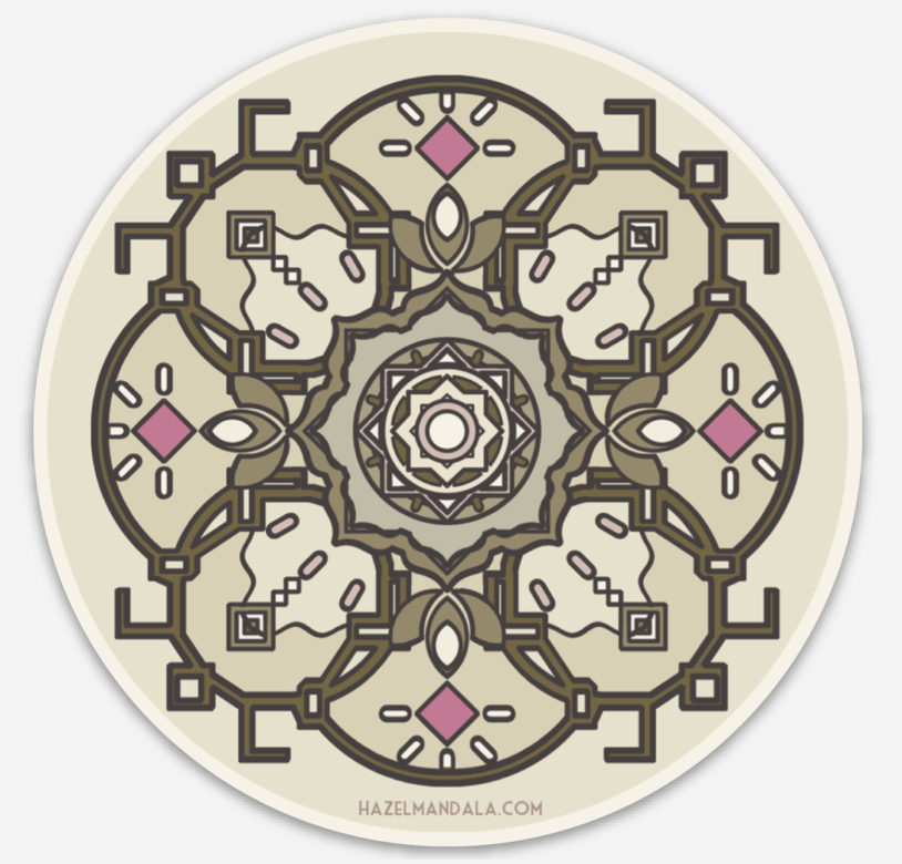 Image of Hazel Mandala Sticker