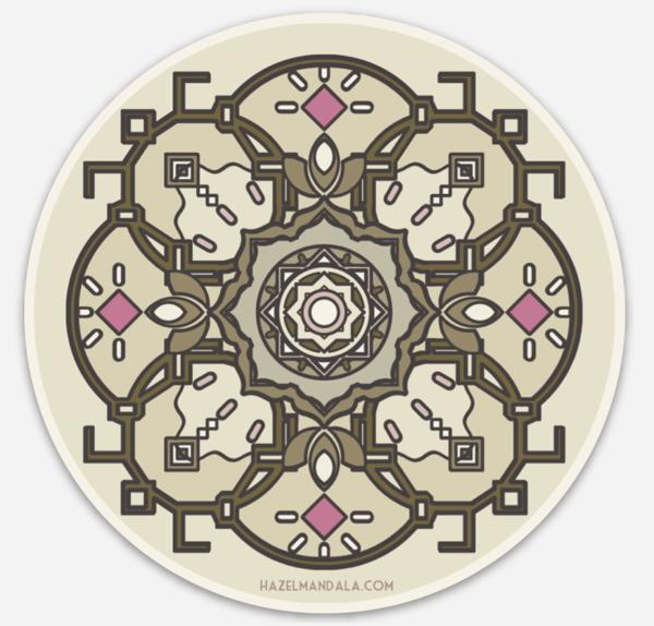 Image of Hazel Mandala Sticker