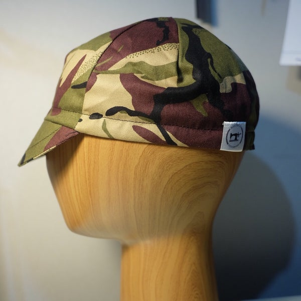 Image of Cotton cycling cap - olive camo