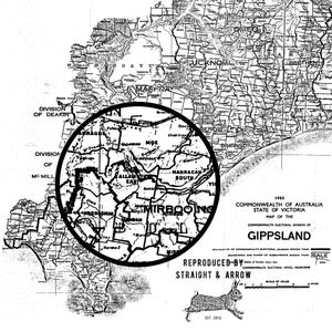 Image of Gippsland Map, 1955 (A2, black on white)