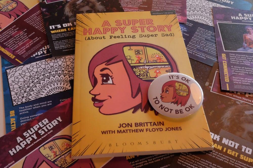 Image of A Super Happy Story Script & Badge Bundle