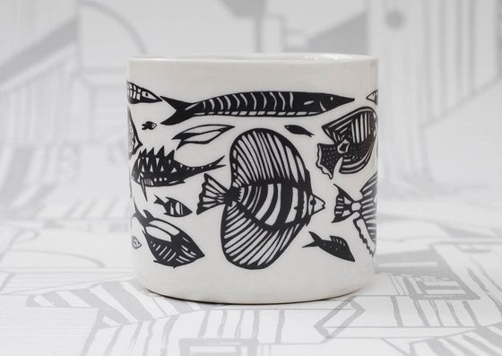 Image of Tropical Fish tea cup